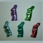 Chocolate Mr. Bunny Foiled in Spring Colors