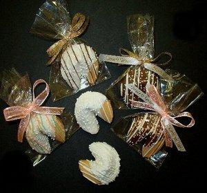Chocolate Dipped Fortune Cookie Favor
