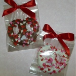 Valentines Day Chocolate Dipped Pretzel Knot