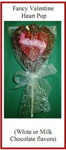 Fancy Chocolate Valentine Heart Pop on a Stick