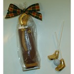 Chocolate Golf Bag with Foiled Putters in Cello Bag with Bow