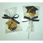 Chocolate Graduation Cap and Diploma with Foiled Horseshoe