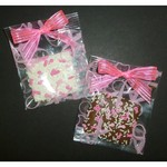 Chocolate Dipped Gram Cracker in Awareness Ribbon Cello Bag