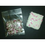 Chocolate Dipped Graham Cracker Sprinked with Pink Ribbons