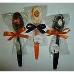 Halloween Theme Chocolate Brew Spoons In Orange and Black