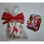 Valentine Hearts Chocolate Krispy Treat Bites