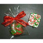 Christmas Chocolate Crispie Bites