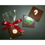 Christmas Single Chocolate Layered Square with Candy Coating