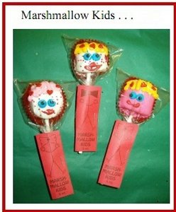 Valentines Day Marshmallow Kids Party Favor