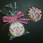 Breast Cancer Awareness Chocolate Dipped Fancy Sandwich Cookie