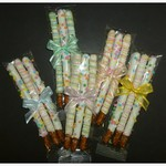 Spring Chocolate Dipped Pretzel Rods - 3 Pack