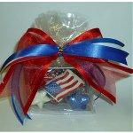 Patriotic Chocolate Dipped Pretzel Gift