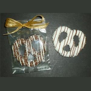 White Chocolate Dipped Pretzel Knots