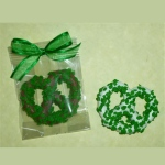 St. Patricks Day Theme Chocolate Covered Pretzel Knot