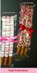 Chocolate Covered Valentines Day Pretzel Rods -3
