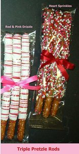 Chocolate Covered Pretzel Rods -3 Pretzel Rods