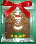Milk Chocolate Rudolf Reindeer Square