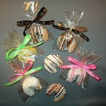 Chocolate Dipped Fortune Cookie Party Favor with Imprint