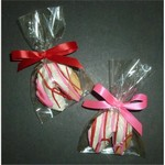 Valentine Chocolate Dipped Fortune Cookie