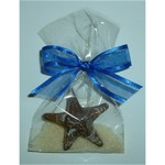 Milk Chocolate Starfish in Cello Bag with Bow