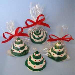 Mini 3D Chocolate Christmas Trees Party Favor