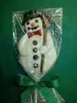 Chocolate Snowman Hand Painted Pop -XL