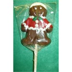 Chocolate Gingerbread Man Pop