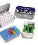 Rectangular Tin Filled with Peppermint or Cinnamon Mints