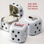 Dice Shaped Tin Filled with Jelly Belly (R) Jelly Beans