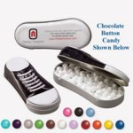 Sneaker Tin Filled with Chocolate Buttons