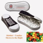Sneaker Tin Filled with Skittles?