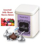 Assorted Jelly Beans in Canister with Custom Printed Label