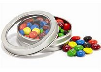 Top-View Tin Filled with Chocolate Buttons