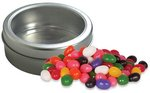 Jelly Beans (Assort.) in Top-View Window Tin with Custom Imprint