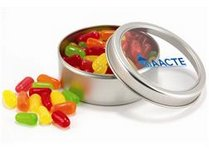 Mints in Top-View Window Tin with Custom Imprint