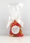 Gummy Bear Candy in Mug Drop Stand Up Bag with Bow