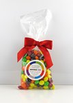 Skittles Candy in Stand Up Mug Drop Bag with Bow