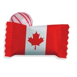 Canadian Flag Stock Wrapper Peppermint Candy