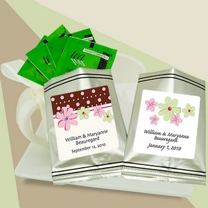 Personalized Green Tea Sampler (silver bag)