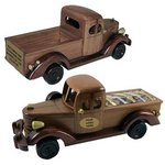Wooden Pick Up Truck with Chocolate Almonds
