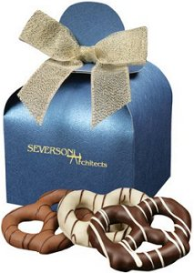 Gourmet Chocolate Covered Pretzels for Business Gifts
