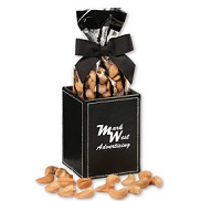 Faux Leather Pen and Pencil Holder with your logo and delicious cashews