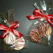 Custom Cookies - Promotional Fortune Cookies - Chocolate Dipped