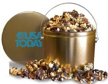 Popcorn Gifts packaged in custom popcorn tins and boxes make a great corporate gift