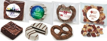 Individually wrapped - cookies, brownies and nuts - tradeshow give aways
