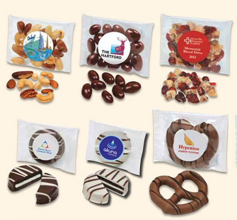 Gourmet Cookies dipped in chocolate, gourmet pretzels dipped in chocolate  - perfect for sales calls, marketing  and trade shows