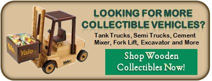 Tank Trucks, Cement Mixers Collectible wooden gifts with food - Click now to see all wooden collectible gifts