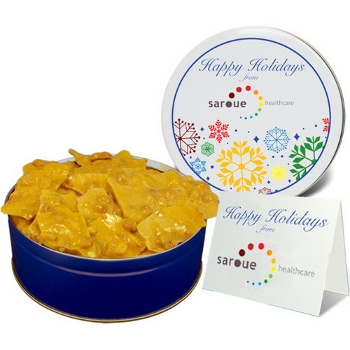 Southern Pecan Brittle in Regular Size Gift Tin   Business