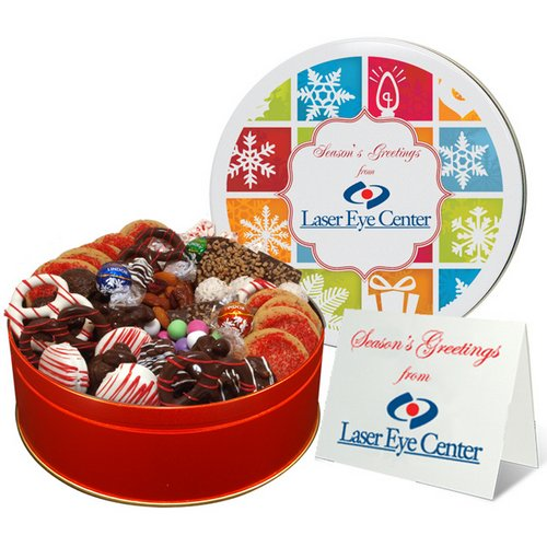 Gourmet Holiday Cookie Gift Assortment In Large Gift Tin Cookie