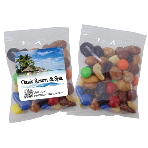 sweet amp nutty trail mix in individual logo pouches